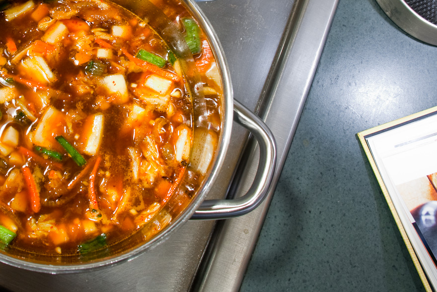The Momofuku Cookbook's Kimchi Stew With Rice Cakes Recipe ...