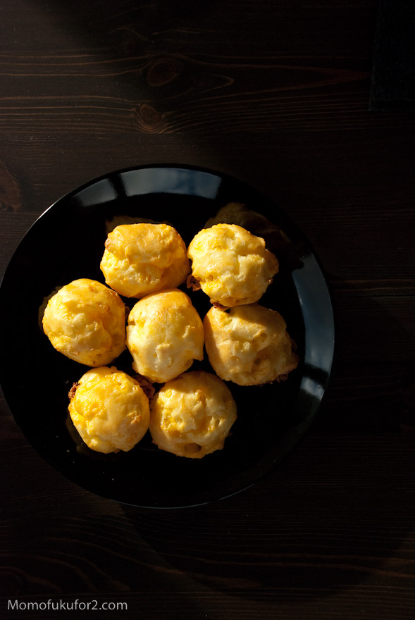 puffy cheese gougerés