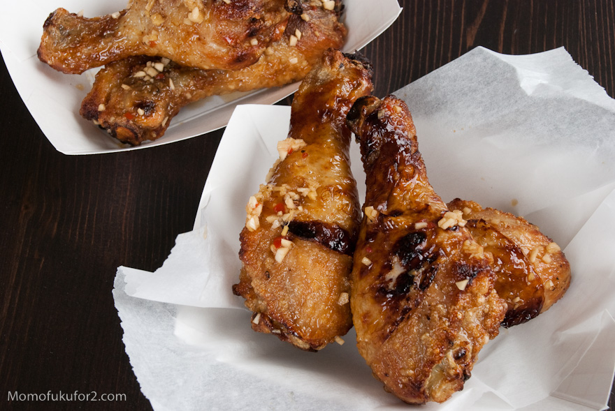 Chicken Wings With Momofuku Octo Vinaigrette Recipe — Dishmaps