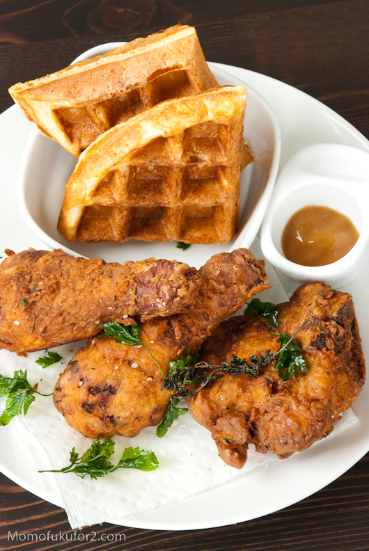 nothing beats fried chicken and waffles!